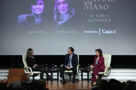 "Mano a Mano: Cristina Sánchez y Carmen Calvo (8) • <a style=""font-size:0.8em;"" href=""http://www.flickr.com/photos/129072575@N05/37679299645/"" target=""_blank"">View on Flickr</a>"