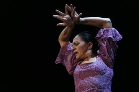 """Actuación de Carmen Cortés en los Jueves Flamencos de la Fundación Cajasol (11) • <a style=""""font-size:0.8em;"""" href=""""http://www.flickr.com/photos/129072575@N05/15977847916/"""" target=""""_blank"""">View on Flickr</a>"""
