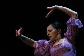 """Actuación de Carmen Cortés en los Jueves Flamencos de la Fundación Cajasol (10) • <a style=""""font-size:0.8em;"""" href=""""http://www.flickr.com/photos/129072575@N05/15384003193/"""" target=""""_blank"""">View on Flickr</a>"""