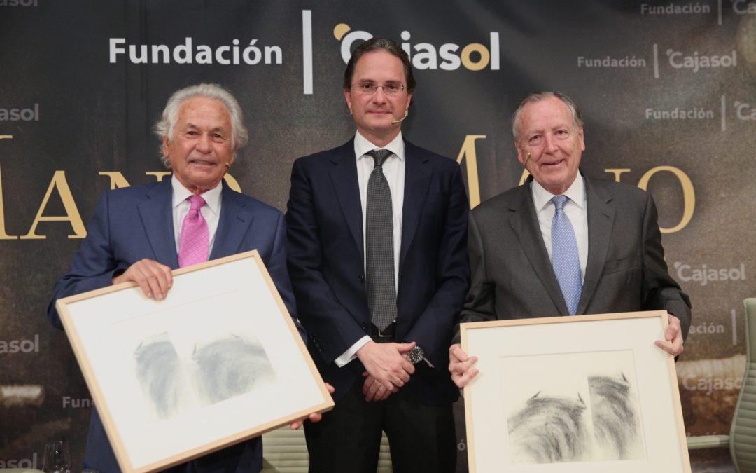 """Palomo Linares y Álvarez del Manzano protagonizan el 31º Mano a Mano de la Fundación Cajasol: """"La fiesta del toro está por encima de las ideologías políticas"""""""