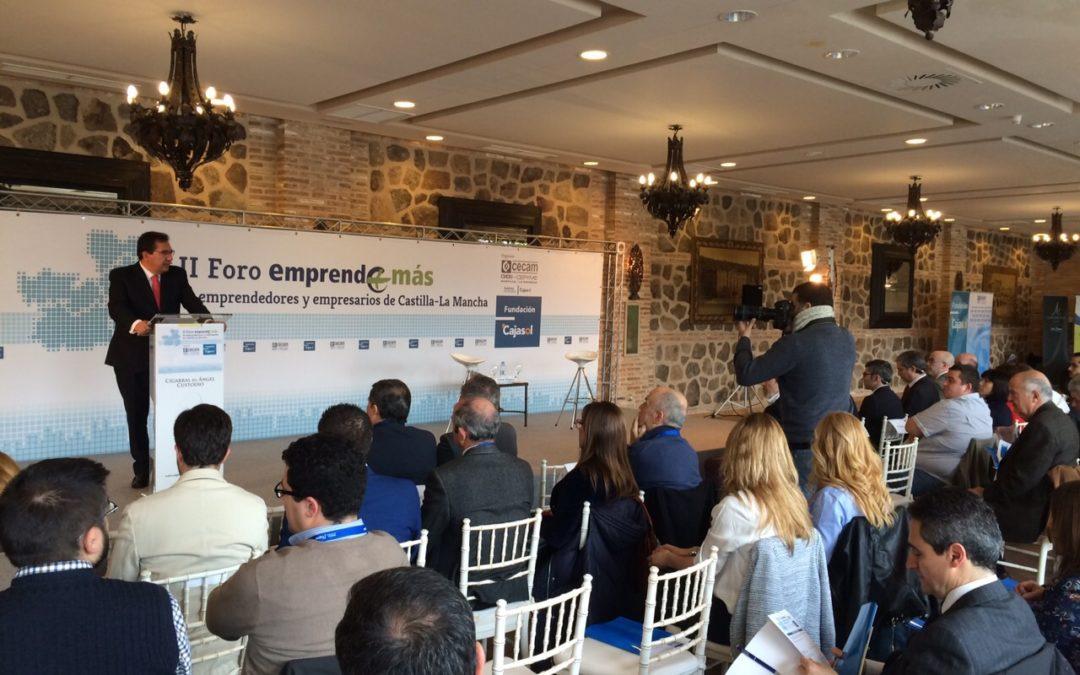La Fundación Cajasol y CECAM impulsan el emprendimiento en el II Foro Emprende+Más de Emprendedores y Empresarios de Castilla-La Mancha