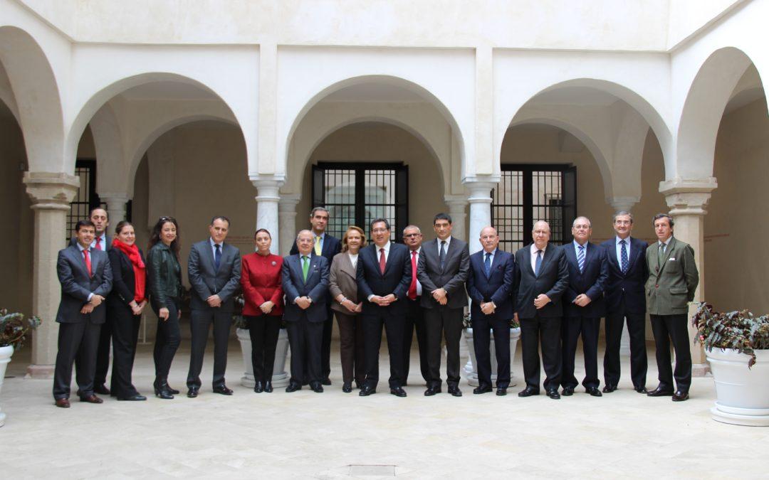 Reunión de la Junta Directiva de la Asociación de Fundaciones Andaluzas en el Museo Thyssen Málaga