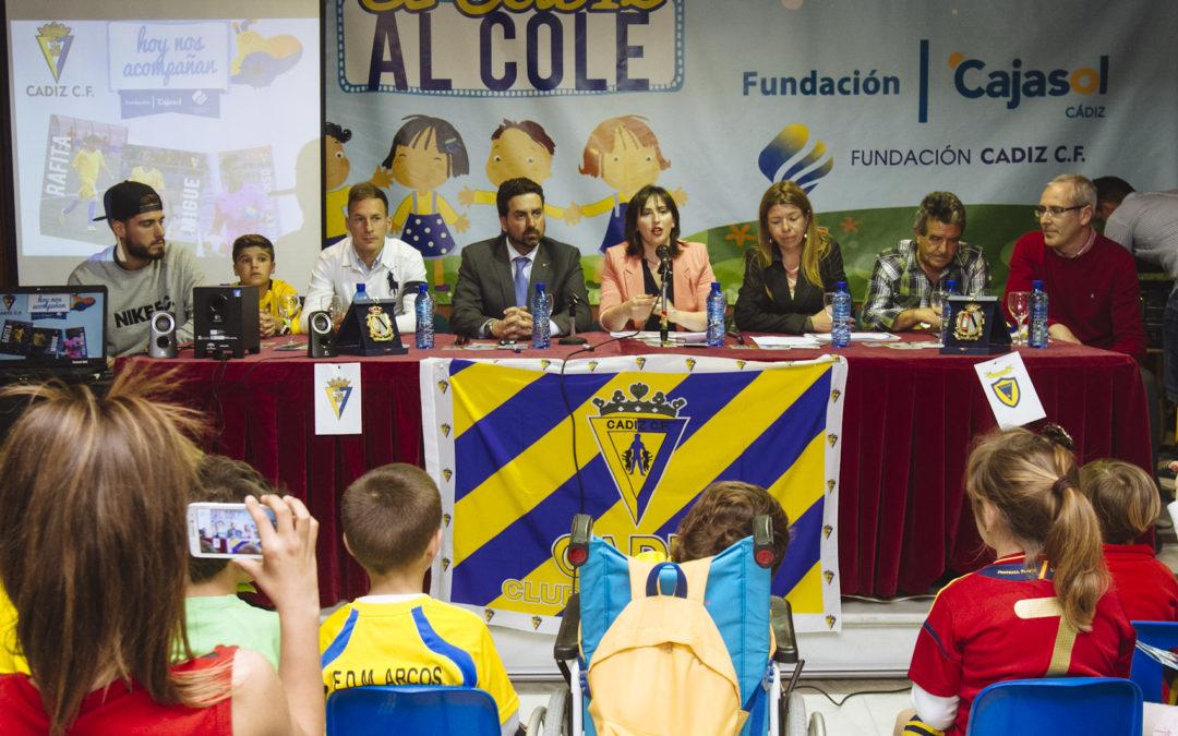 El programa 'Del Cádiz CF al cole' llega a Algar y Chiclana