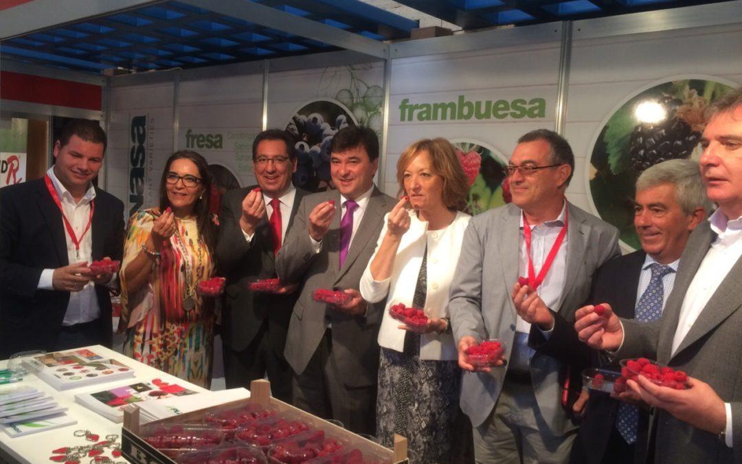 Cerca de un millar de personas de 30 empresas se dan cita en el I Congreso de Frutos Rojos