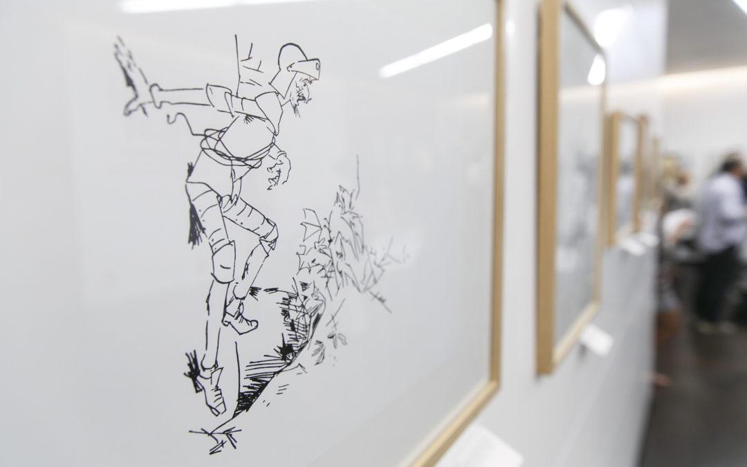 2.500 personas disfrutan con las ilustraciones de Nikolaj Pirnat sobre Don Quijote de la Mancha en la Fundación Cajasol