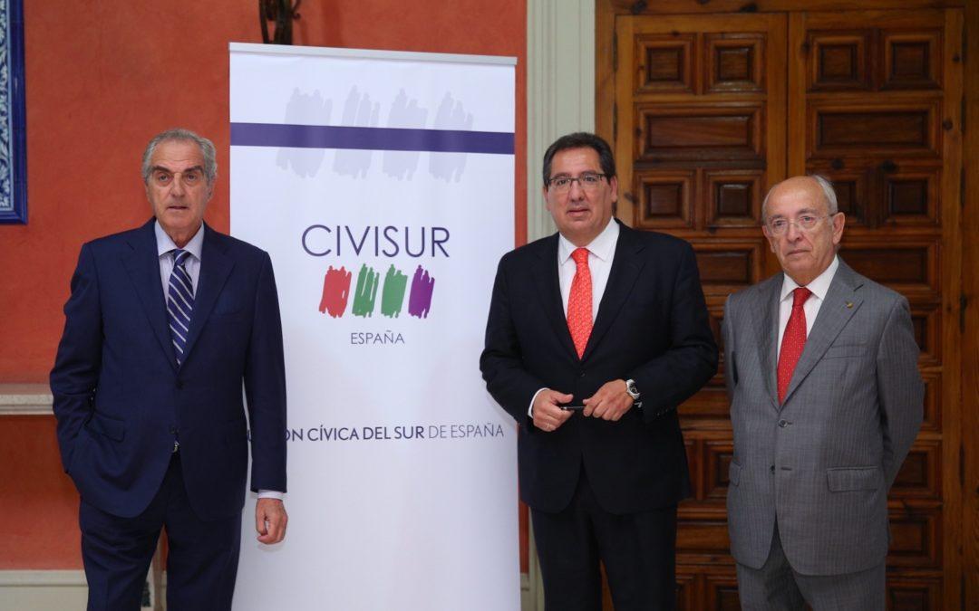 Antonio Pulido asiste a la presentación de Civisur en la Fundación Cajasol