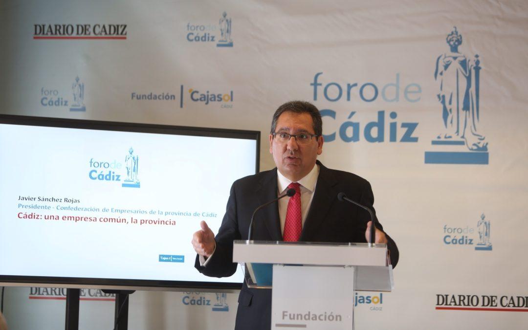 """Antonio Pulido en el Foro de Cádiz: """"Es el tiempo de sumar energías y coordinar esfuerzos para presentar a Andalucía y Cádiz como tierra de oportunidades, de estabilidad y de confianza"""""""