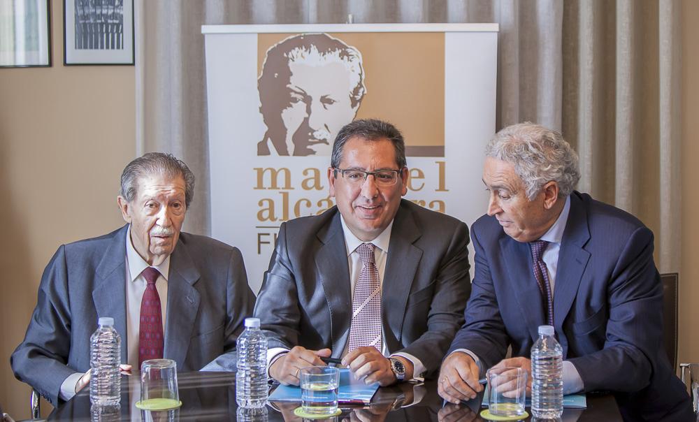 Antonio Pulido, expresando su satisfacción tras el acuerdo alcanzado con la Fundación Manuel Alcántara
