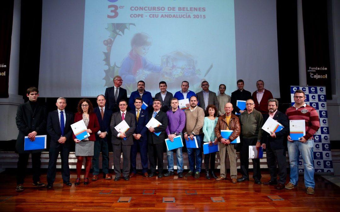 Entrega de premios del III Concurso de Belenes COPE-CEU Andalucía 2015 en Fundación Cajasol