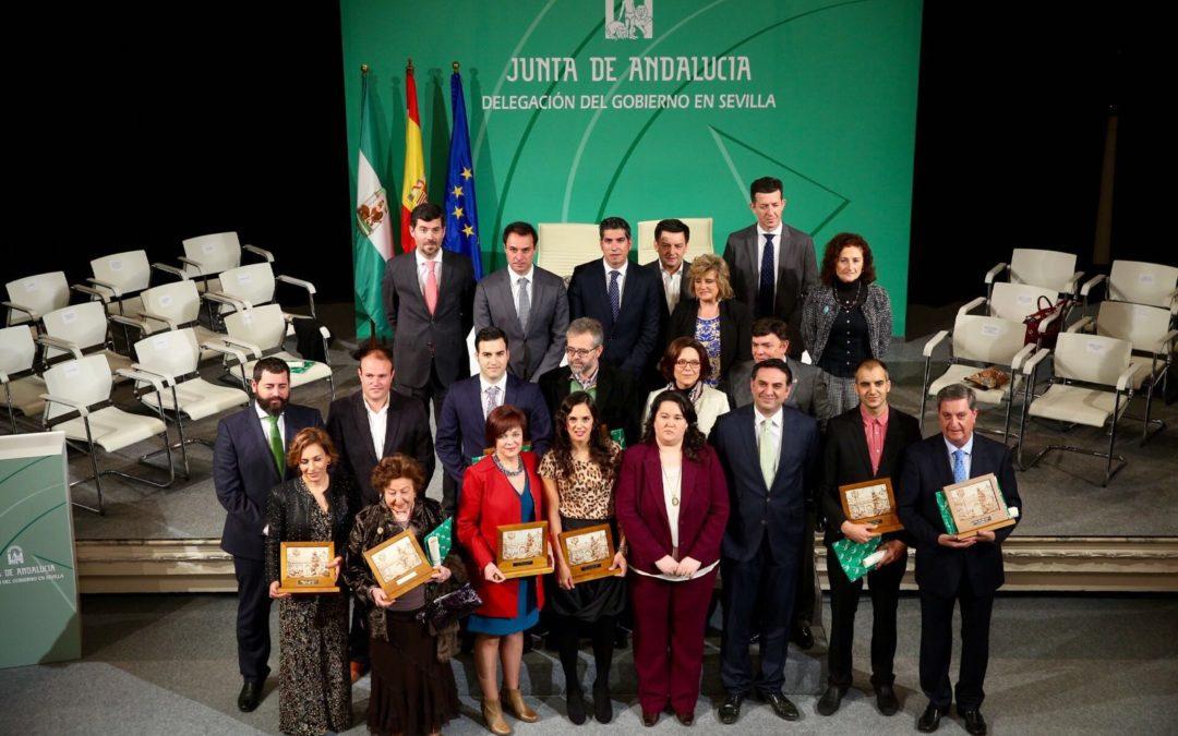 Entrega de Banderas de Andalucía de la provincia de Sevilla en la Fundación Cajasol