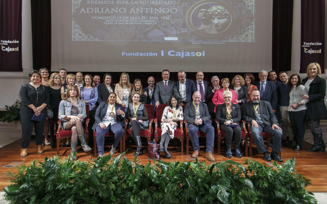 Entrega de los V Premios por la Igualdad Adriano Antinoo en la Fundación Cajasol