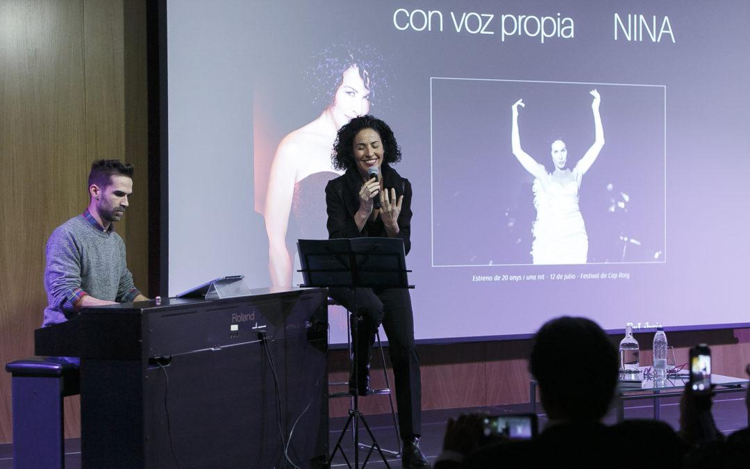 """Nina, en la Fundación Cajasol: """"Con voz propia es un homenaje a mi oficio"""""""