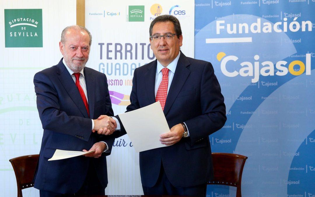 La Fundación Cajasol suscribe un convenio con la Diputación de Sevilla para la realización de actuaciones en 'Territorio Guadalquivir'