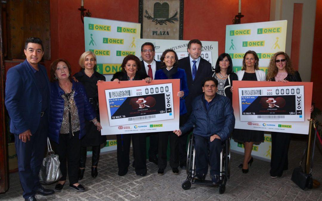 Presentación del cupón de la ONCE dedicado a Juanito Valderrama