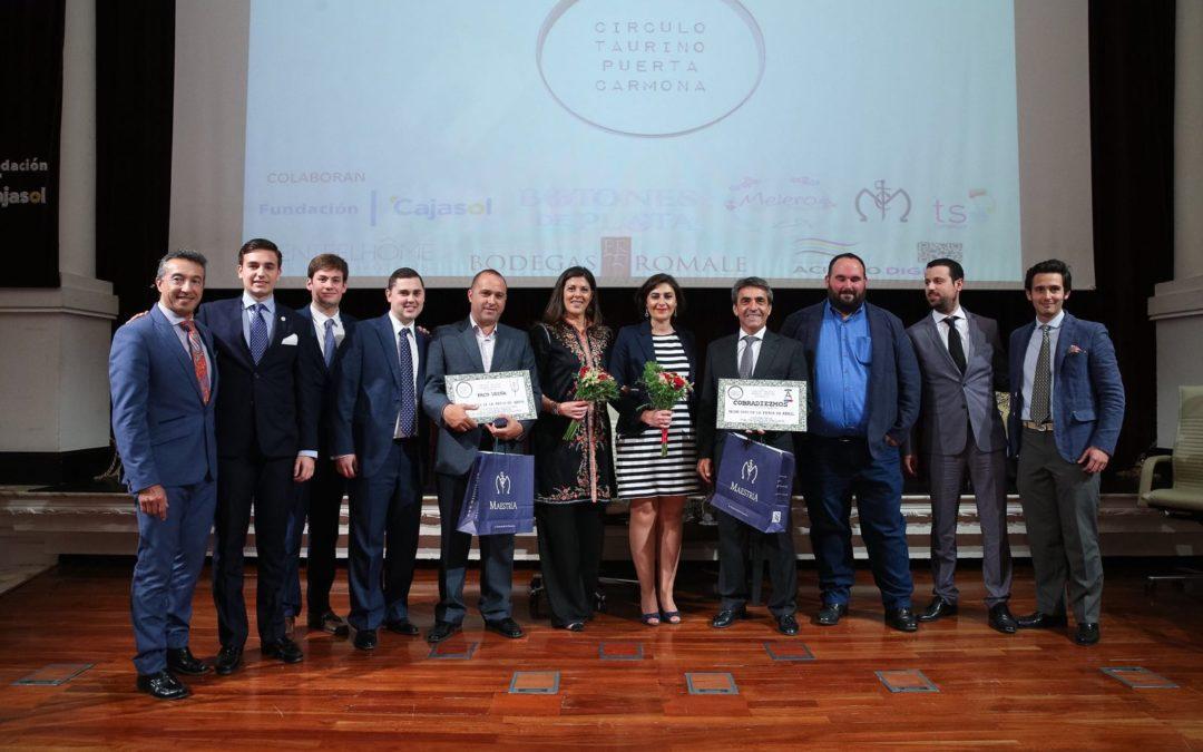 Entrega de los Premios del Círculo Taurino Puerta Carmona en la Fundación Cajasol