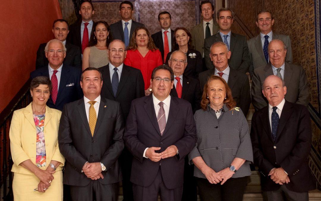 Reunión de la Junta Directiva de la AFA en la Fundación Cajasol