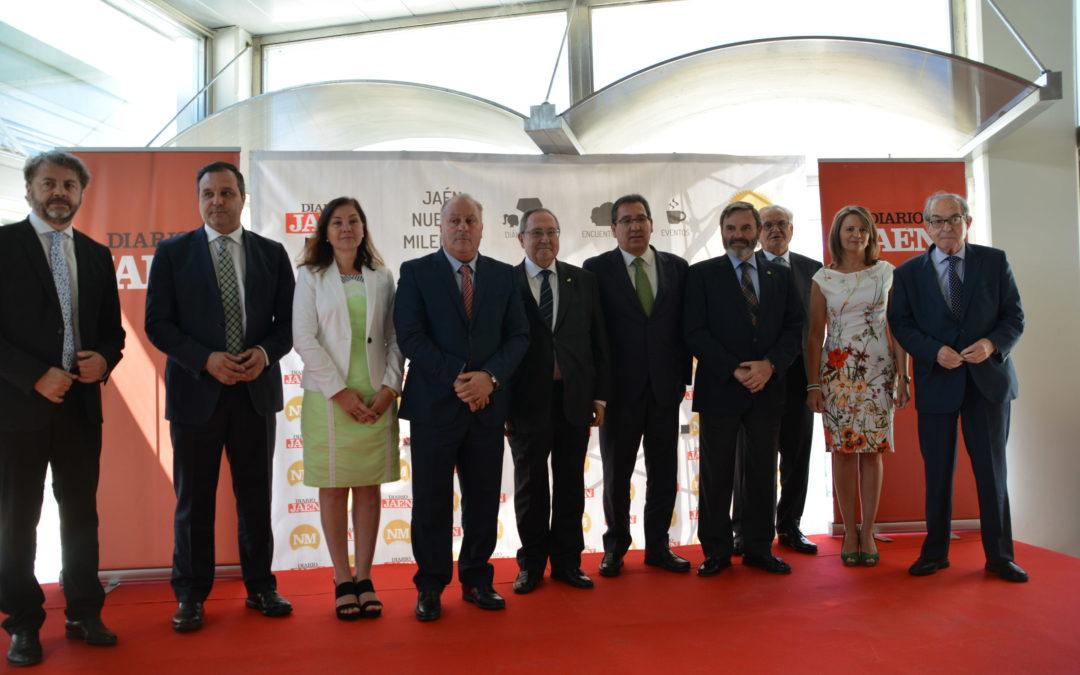 Antonio Pulido participa en el Desayuno-coloquio 'Jaén Nuevo Milenio' con el presidente de Freixenet, José Luis Bonet
