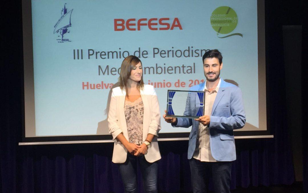 Entrega del III Premio Befesa de Periodismo Medioambiental en la sede de la Fundación Cajasol en Huelva