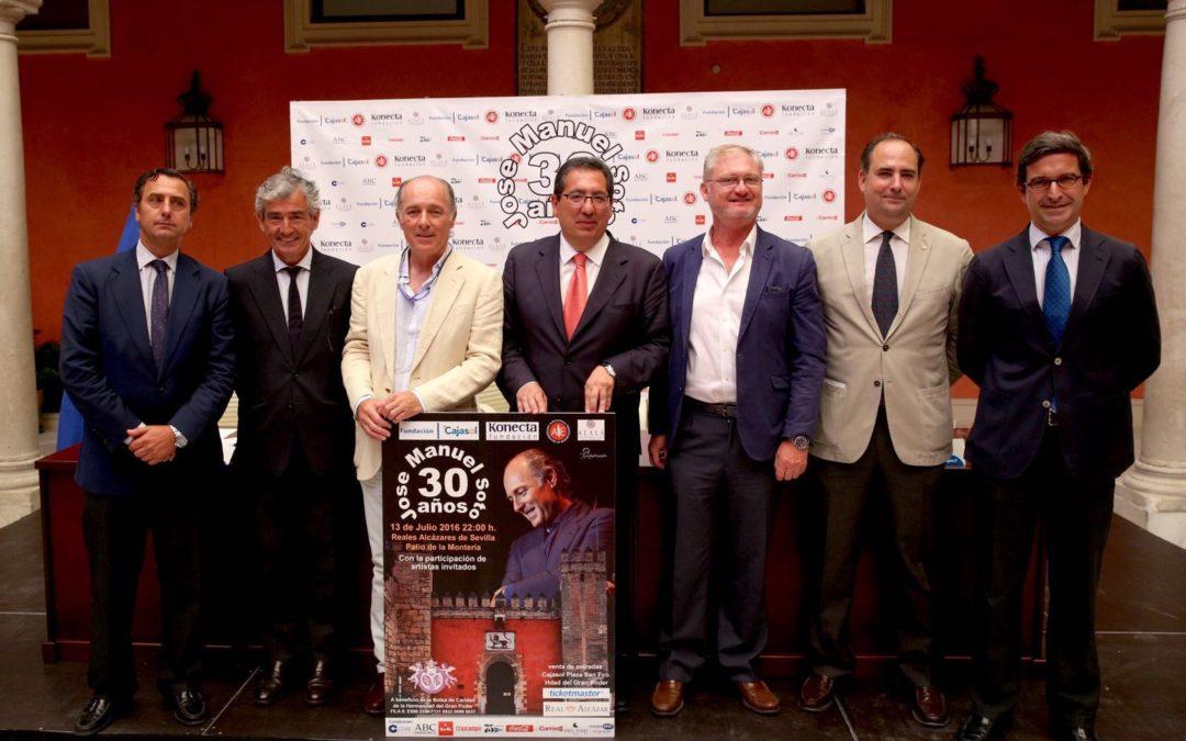 José Manuel Soto celebra sus 30 años en la música con un concierto a beneficio de la Bolsa de Caridad del Gran Poder