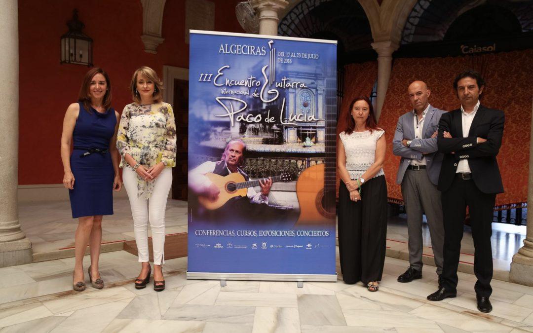 Presentación del III Encuentro Internacional de Guitarra Paco de Lucía en la Fundación Cajasol
