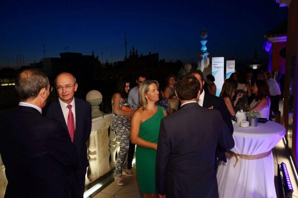 Inauguración de la nueva terraza de la Fundación Cajasol en Sevilla