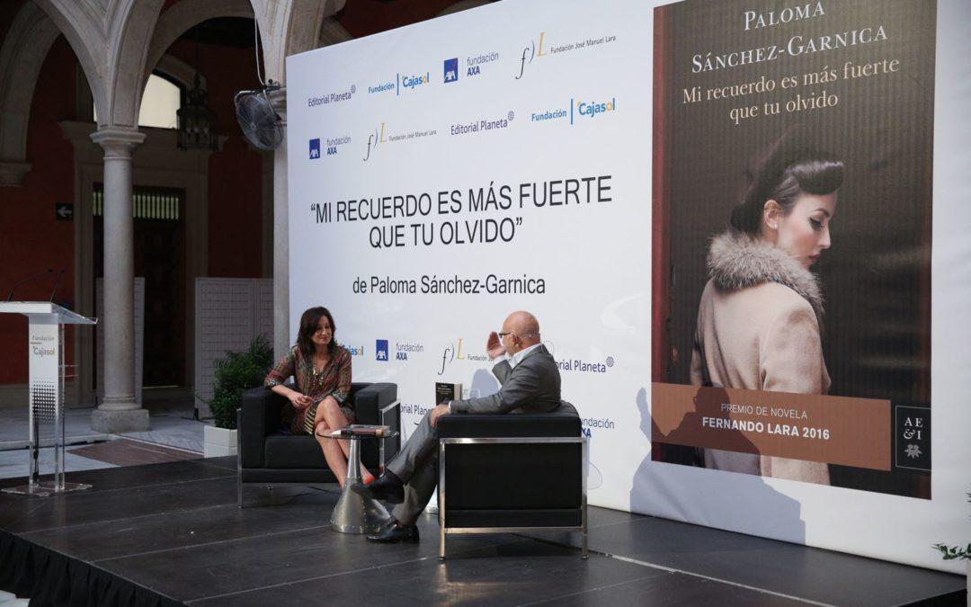 Presentación del libro 'Mi recuerdo es más fuerte que tu olvido', de Paloma Sánchez-Garnica, Premio de Novela Fernando Lara 2016