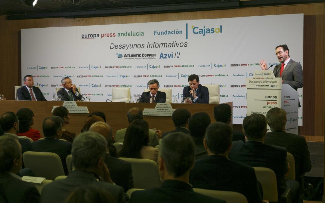 Desayuno Informativo de Europa Press con el El consejero de Fomento y Vivienda, Felipe López, desde la Fundación Cajasol
