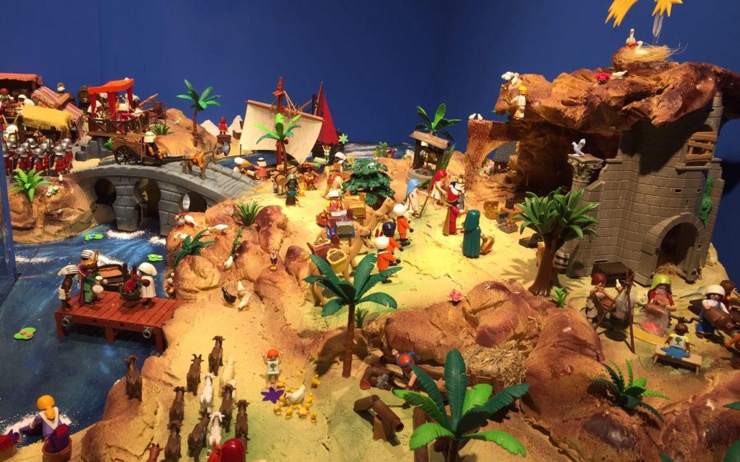 La Fundación Cajasol da el pistoletazo de salida a la Navidad en Huelva con la inauguración de un Belén de Playmobil