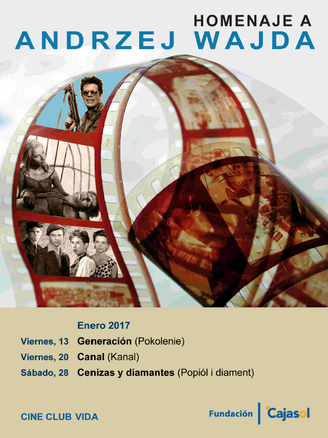Cartel del ciclo de cine homenaje a Andrzej Wajda