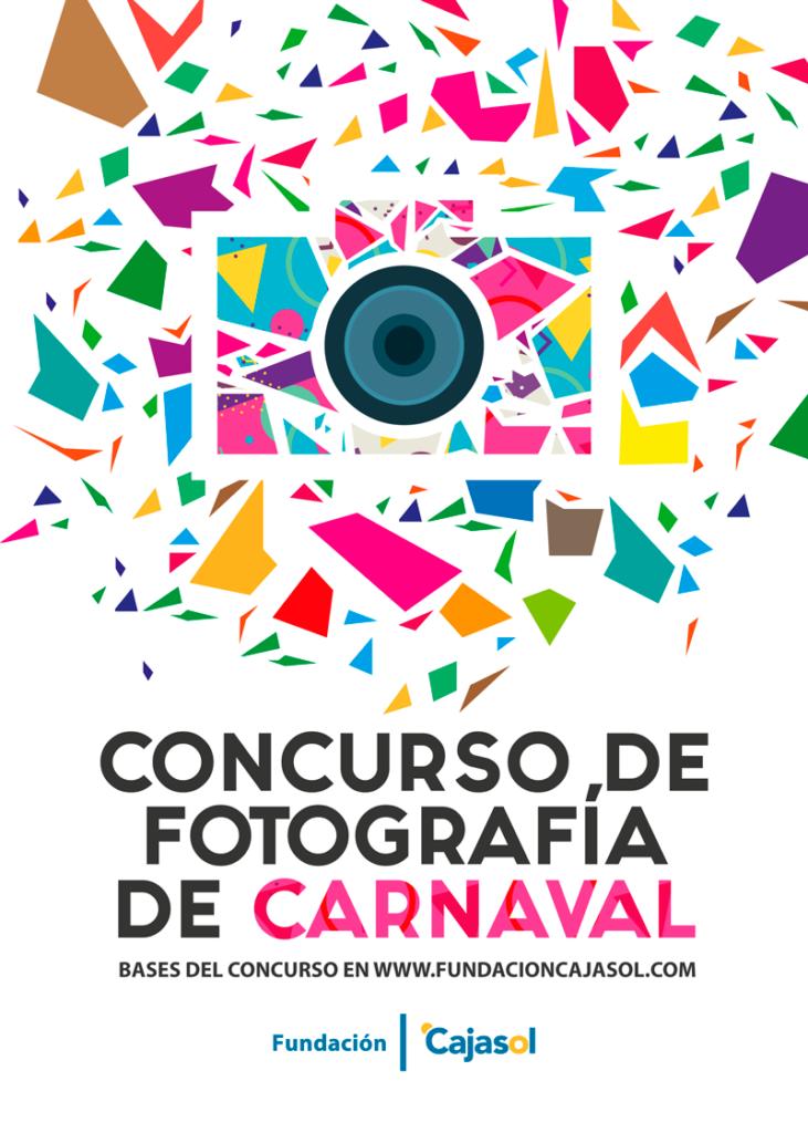 Cartel del I Concurso de Fotografía de Carnaval de Cádiz de la Fundación Cajasol