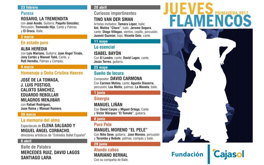 La Fundación Cajasol presenta la nueva programación de primavera de los 'Jueves Flamencos'