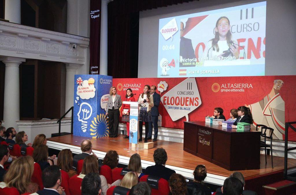 Fase final del III Concurso de Oratoria Bilingüe 'Eloquens' en la Fundación Cajasol