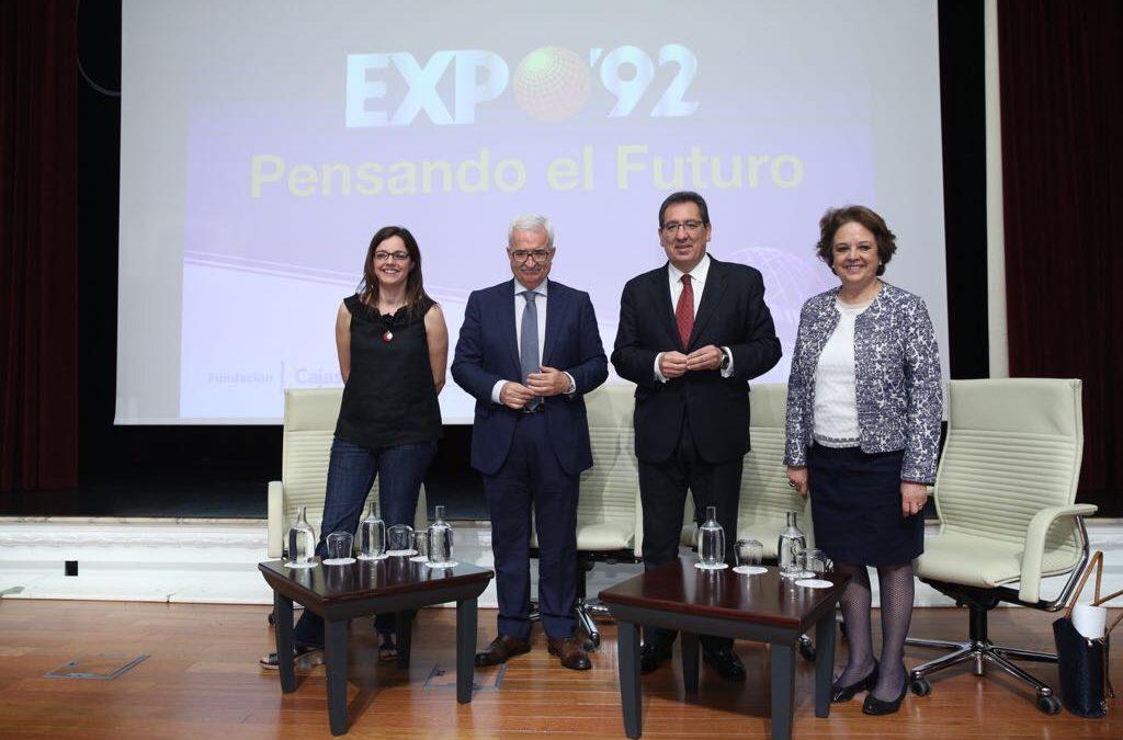 """Antonio Pulido, en la jornada 'Expo 92, pensando el futuro': """"Es momento de abrir nuevas sendas de modernidad y de progreso para Sevilla y Andalucía"""""""