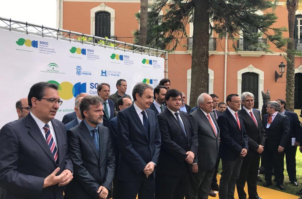 La Fundación Cajasol, en la inauguración del Congreso Internacional de Cambio Climático SOCC Huelva 2017