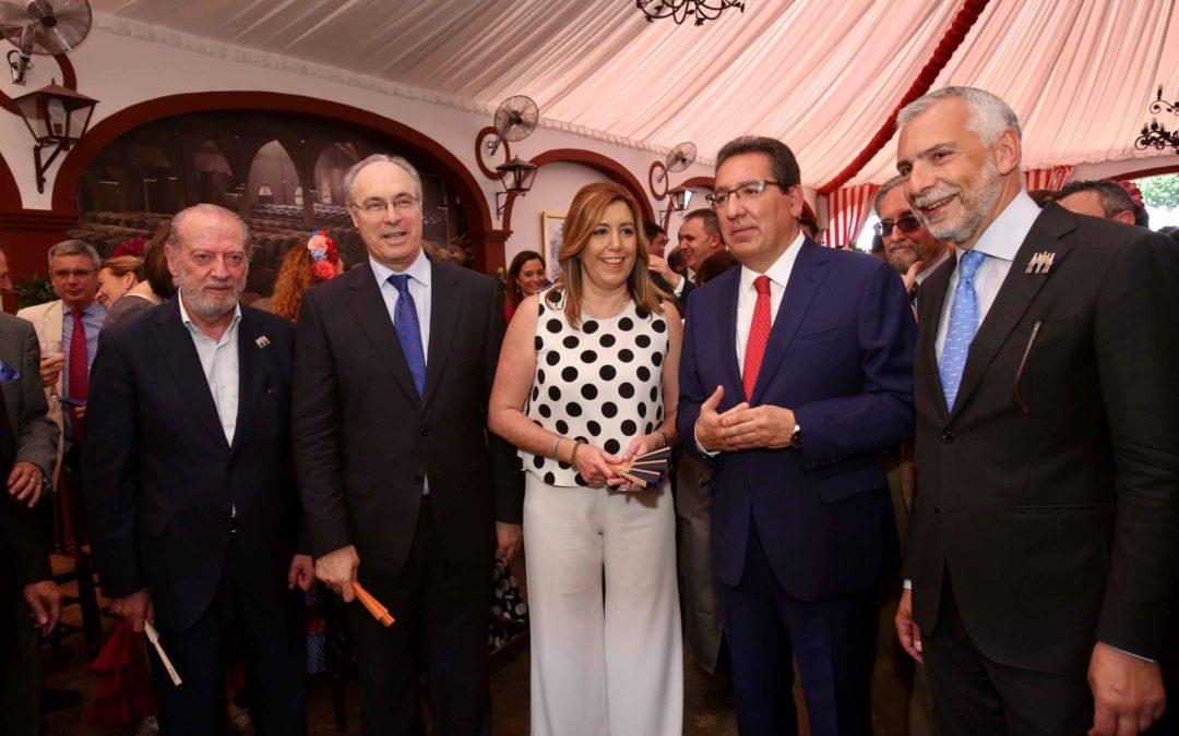 Recepción institucional de la Fundación Cajasol en la Feria de Sevilla 2017