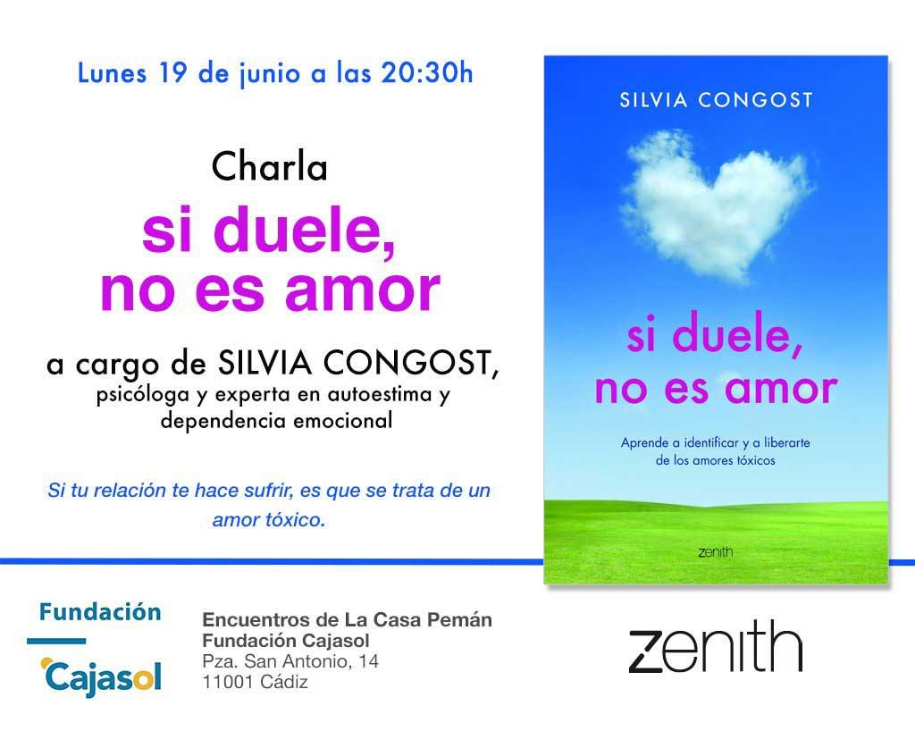Invitación para la charla de Silvia Congost en los Encuentros de la Casa Pemán