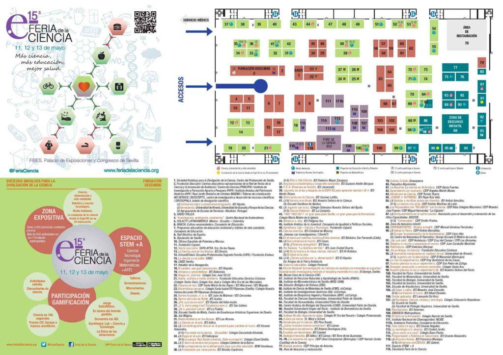 Plano de la XV Feria de la Ciencia de Sevilla