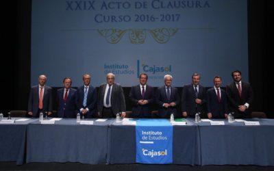 El Instituto de Estudios Cajasol celebra el Acto de Clausura del Curso Académico 2016/2017