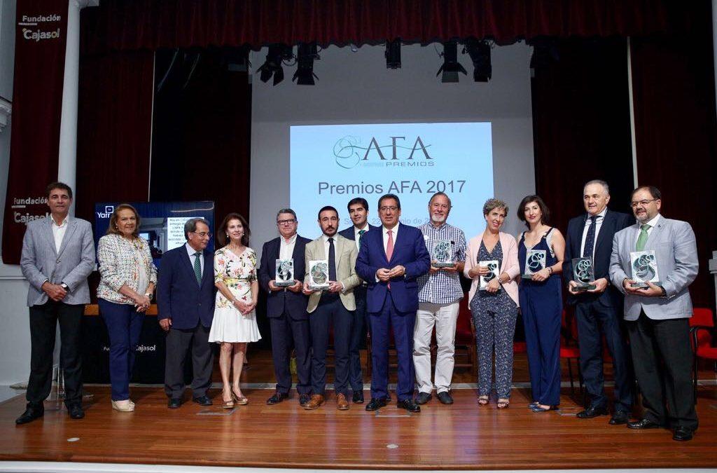 Entrega de los Premios AFA 2017 en la Fundación Cajasol