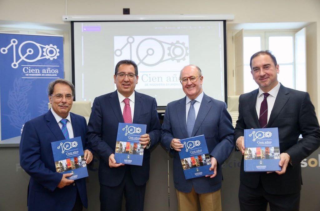 Presentación del libro del centenario de la Asociación de Ingenieros Industriales de Andalucía Occidental desde Fundación Cajasol