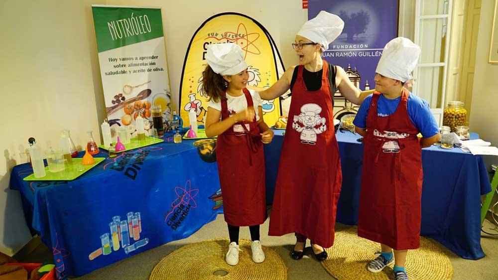 Los escolares del colegio Santa Teresa participaron en el programa 'Nutrioleo'