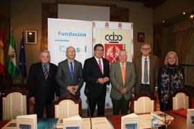 """Firma de convenio 2018 entre la Real Academia de Córdoba y la Fundación Cajasol (10) • <a style=""""font-size:0.8em;"""" href=""""http://www.flickr.com/photos/129072575@N05/25958601587/"""" target=""""_blank"""">View on Flickr</a>"""