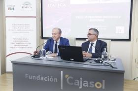 """Conferencia de José Beltrán Fortes en el Seminario sobre Itálica en la Fundación Cajasol (10) • <a style=""""font-size:0.8em;"""" href=""""http://www.flickr.com/photos/129072575@N05/41422082834/"""" target=""""_blank"""">View on Flickr</a>"""