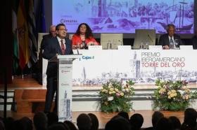 "Entrega del Premio Iberoamericano Torre del Oro 2018 (3) • <a style=""font-size:0.8em;"" href=""http://www.flickr.com/photos/129072575@N05/31228843108/"" target=""_blank"">View on Flickr</a>"