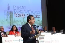 "Entrega del Premio Iberoamericano Torre del Oro 2018 (9) • <a style=""font-size:0.8em;"" href=""http://www.flickr.com/photos/129072575@N05/31228843408/"" target=""_blank"">View on Flickr</a>"