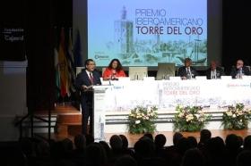 "Entrega del Premio Iberoamericano Torre del Oro 2018 (8) • <a style=""font-size:0.8em;"" href=""http://www.flickr.com/photos/129072575@N05/44191439235/"" target=""_blank"">View on Flickr</a>"