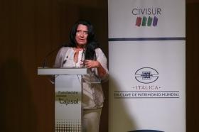 """Seminario 'Itálica en-clave de Patrimonio Mundial' desde la Fundación Cajasol (4) • <a style=""""font-size:0.8em;"""" href=""""http://www.flickr.com/photos/129072575@N05/34865241922/"""" target=""""_blank"""">View on Flickr</a>"""