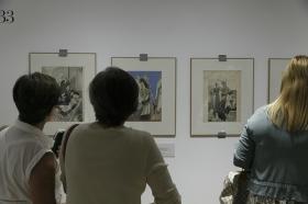 """Exposición 'La elegancia del dibujo. Crónica de París. Carlos Sáenz de Tejada' en la Fundación Cajasol (15) • <a style=""""font-size:0.8em;"""" href=""""http://www.flickr.com/photos/129072575@N05/36592914394/"""" target=""""_blank"""">View on Flickr</a>"""