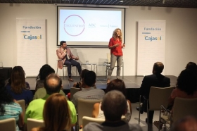 "Encuentros de ABC Córdoba y la Fundación Cajasol: Silvia Congost (5) • <a style=""font-size:0.8em;"" href=""http://www.flickr.com/photos/129072575@N05/37432534985/"" target=""_blank"">View on Flickr</a>"