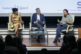 """Encuentros de la SER dedicados a los 40 años del 4 de diciembre con Pablo Iglesias y Teresa Rodríguez (15) • <a style=""""font-size:0.8em;"""" href=""""http://www.flickr.com/photos/129072575@N05/37775056202/"""" target=""""_blank"""">View on Flickr</a>"""